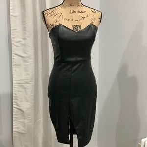 House of London faux leather bodycon dress size S
